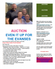 Even it Up for the Evanses Online Auction