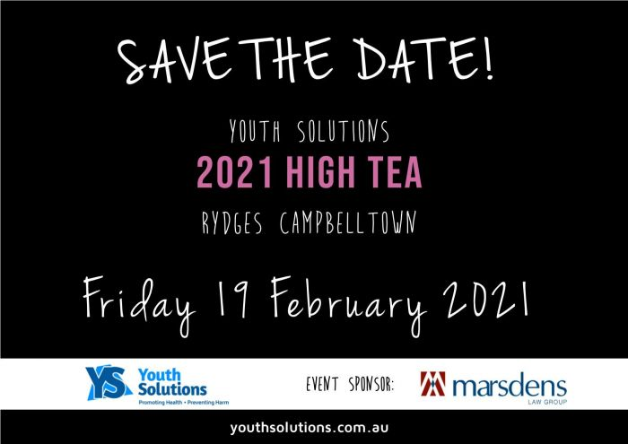 Youth Solutions 2021 High Tea event!