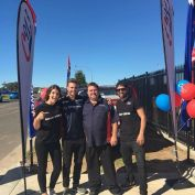 Beau knows the place to be which is here at Gregory Hills TyrePower Grand opening! What a great day! #beauryan #AshC913 #MarinaC913 #tyrepower