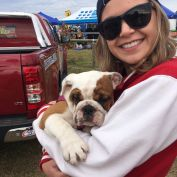 We're at Paws in the Park in Camden and I wanted to steal this little girl but they said no :( Come down and bring your little fluff balls with you #LaurenC913 #dogsofinstagram #RoadCrewC913 #brittishbulldog #puppy