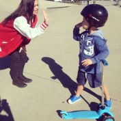 Making best friends with the little ones down here at Leumeah Skate Park! <3 #RoadCrewC913 #DanaC913 #Skatepark #freebies #scooter #cutekid