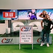 Josh and Lyndal are broadcasting live from Gregory Hills Town Centre at 10:00!! Plus the roadies will be here ALL DAY handing out your favourite freebies! #onair #lights #camera #action #roadcrewc913 #JoshC913 #LyndalC913 #breakfastshow