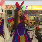 It's all happening here at @glenquarietowncentre until 2pm 🐰✨🍫 Spidey is ballon bending, Moana is face painting and the Easter bunny has just arrived!! Check out glenquarie.com.au for all the FUN these school holidays 👧🏻👧🏽🧒🏼🧒🏿