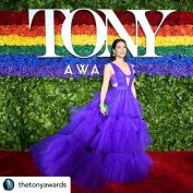 The glitz and glamor of Broadway's biggest night! Posted @withrepost • @thetonyawards Beautiful 🌈 #TonyAwards